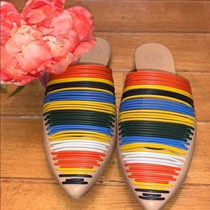 New Tory Burch Sienna Multicolor Mules size 7